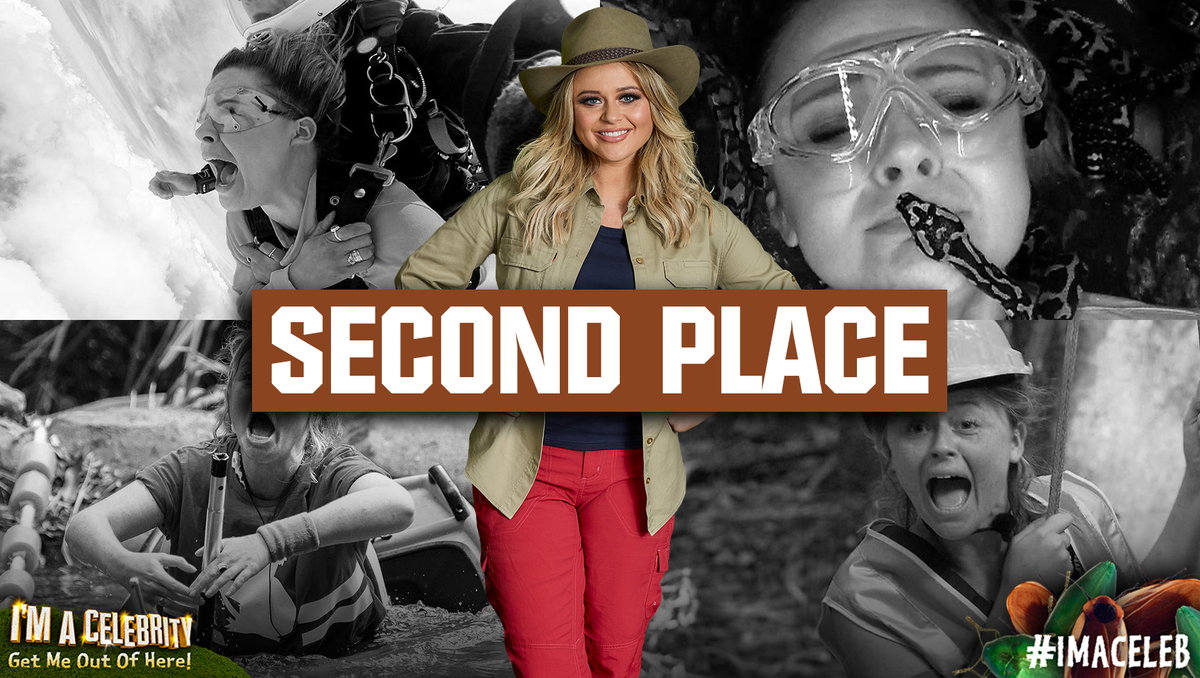 She kept us entertained with endless silliness, and has been on a massive Jungle journey. @EmAtack has finished in second place! #ImACeleb