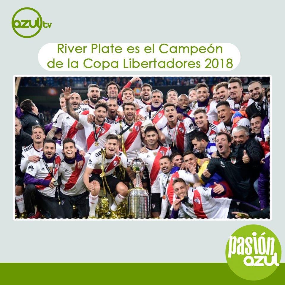 ⚽️ #PasiónAzul 🏆 #CopaLibertadores #Final  @CARPoficial se coronó campeón de la Copa Libertadores al superar por 3-1 a @BocaJrsOficial  🏟 #EstadioSantiagoBernabéu📍Madrid, España ➕ Es su cuarto título en la Copa Libertadores.