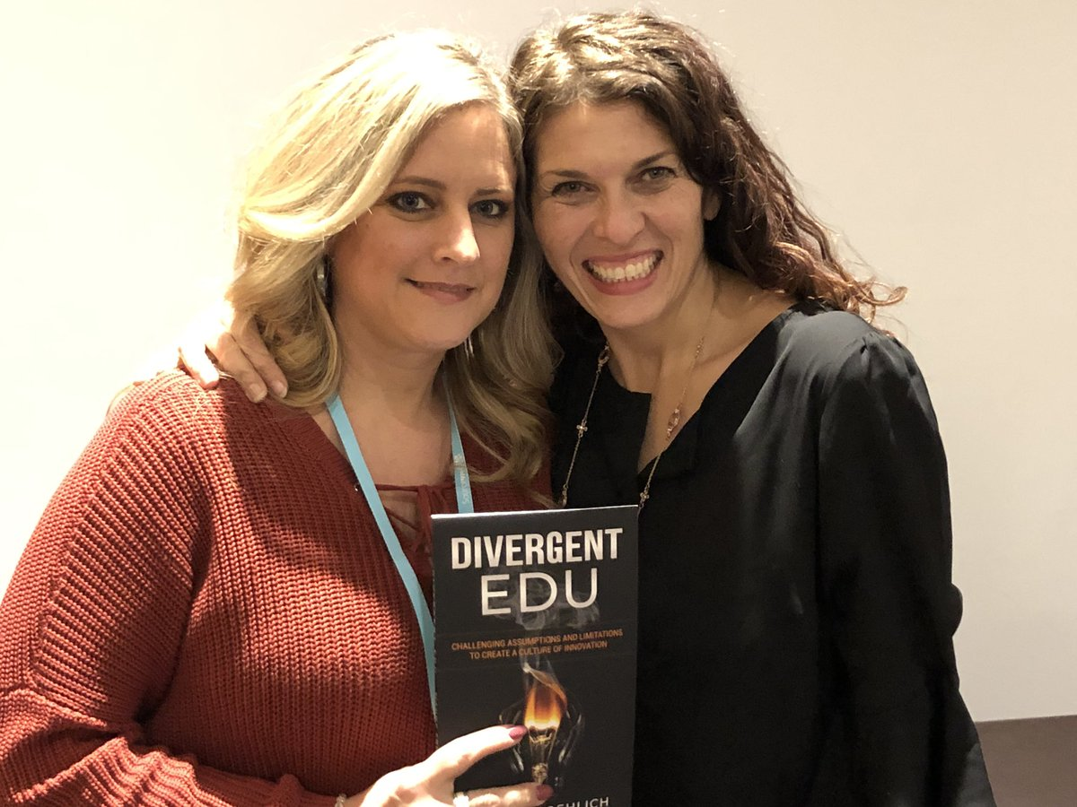 Finally got a copy of#DIvergentEDU from the amazing and inspiring @froehlichm #TIES18 #my53s