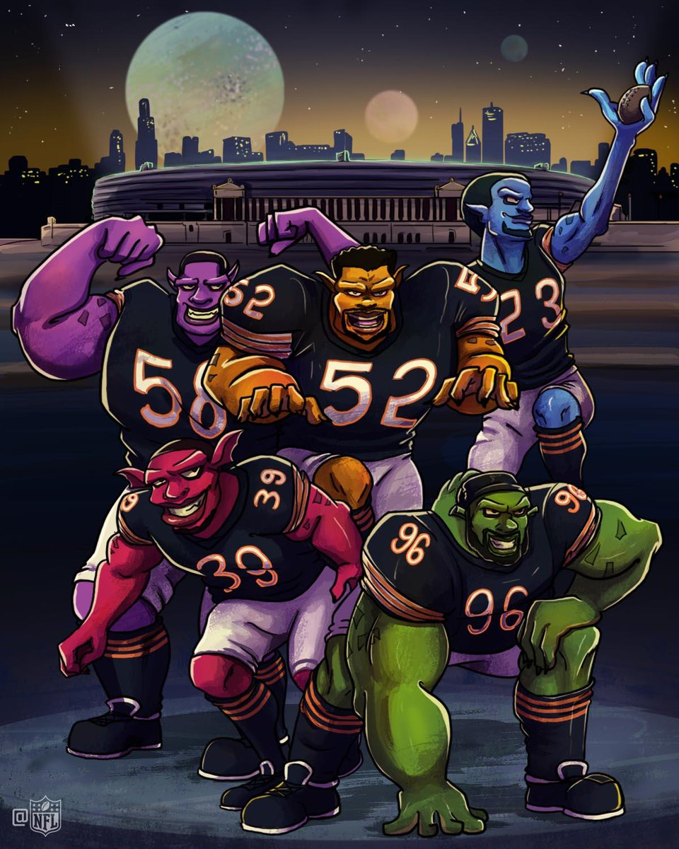 Monstars of the Midway 💪  #DaBears