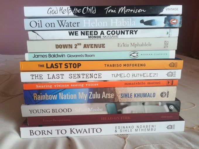 Brought these babies home from @Abantu_ The books were like candy in the #AbantuBookstore. #AbantuBookFest Photo