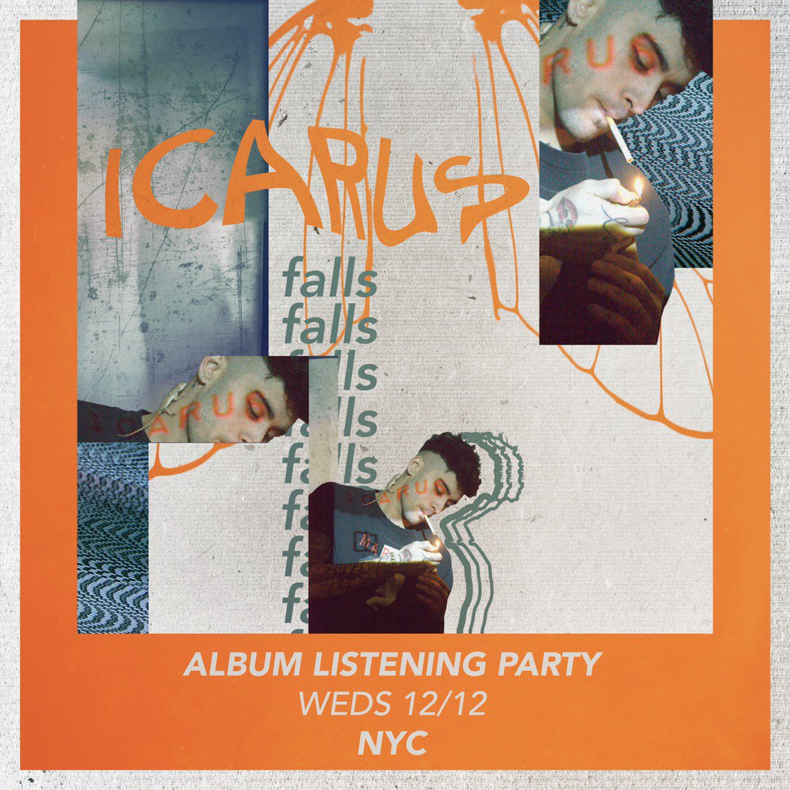 NYC album listening party this Wednesday: https://t.co/KLSimACMNM  Limited tickets available #ICARUSFALLS 💿 🎧