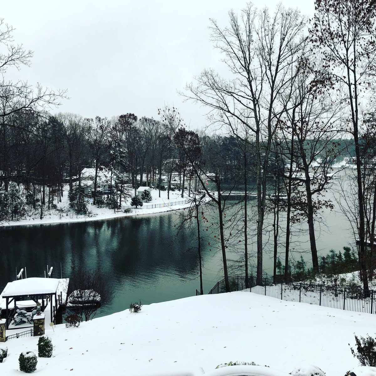 Love how the snow makes the scenery look.