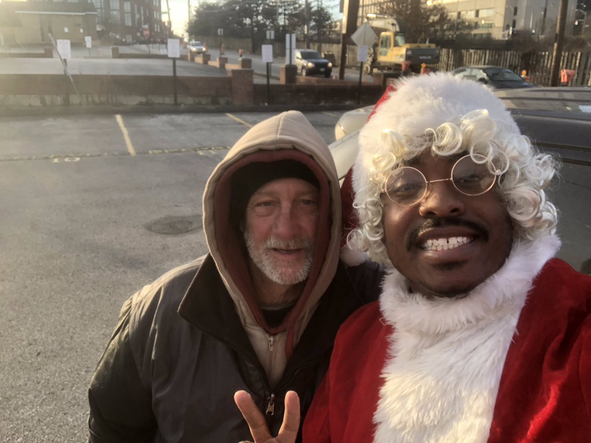 Meet David . I met him in Columbus,OH earlier today . I saw him on the side of the road holding a side . Hes been homeless for 8 months. The last two nights have been real cold here and he said he slept in a churchs boiler room just to stay warm