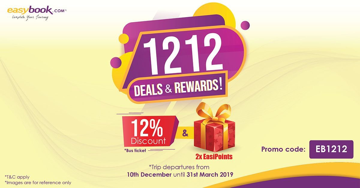 Easybook On Twitter Save Up On Bus Tickets And Be Rewarded This 12 12 Save Up To 12 With Easybook S 12 12 Promotion And Get 2x Easipoint Rewards When You Book Your Bus Tickets