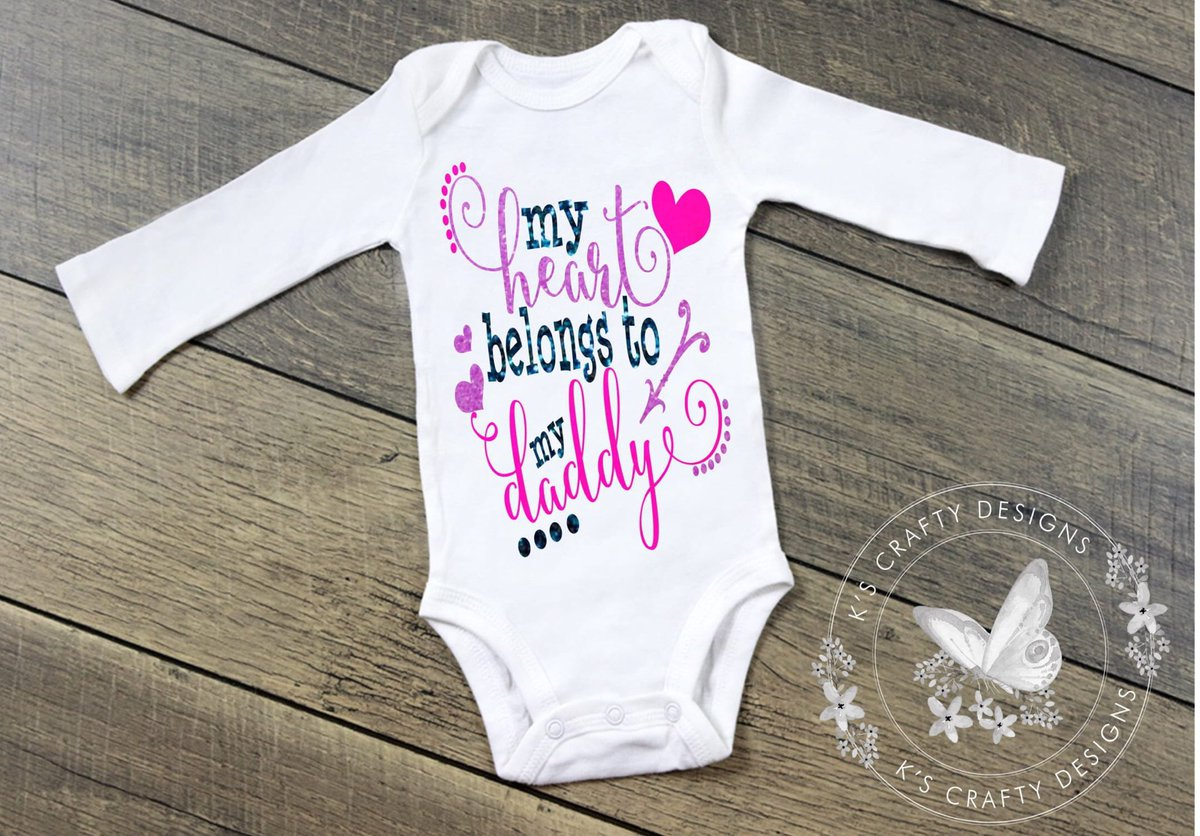 15f7f95c23f9d Excited to share this item from my  etsy shop  My Heart belongs to Daddy