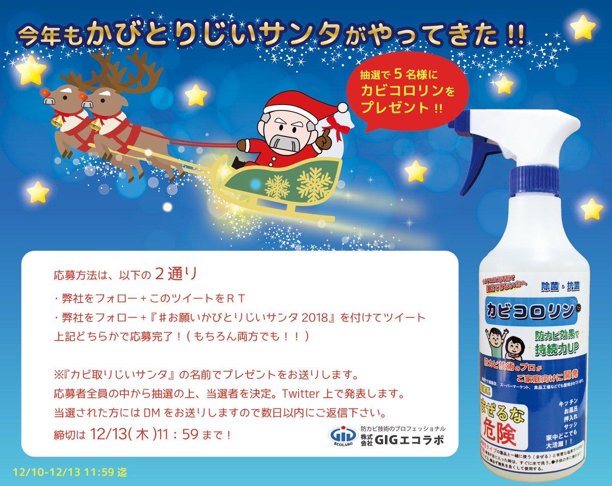 (株)GIGエコラボ かびとりじいサンタからメリークリスマス☆さんの投稿画像