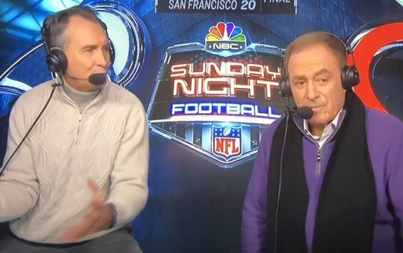 Wardrobe for Al Michaels and Cris Collinsworth courtesy of Forever 61 #LARvsCHI #SNF