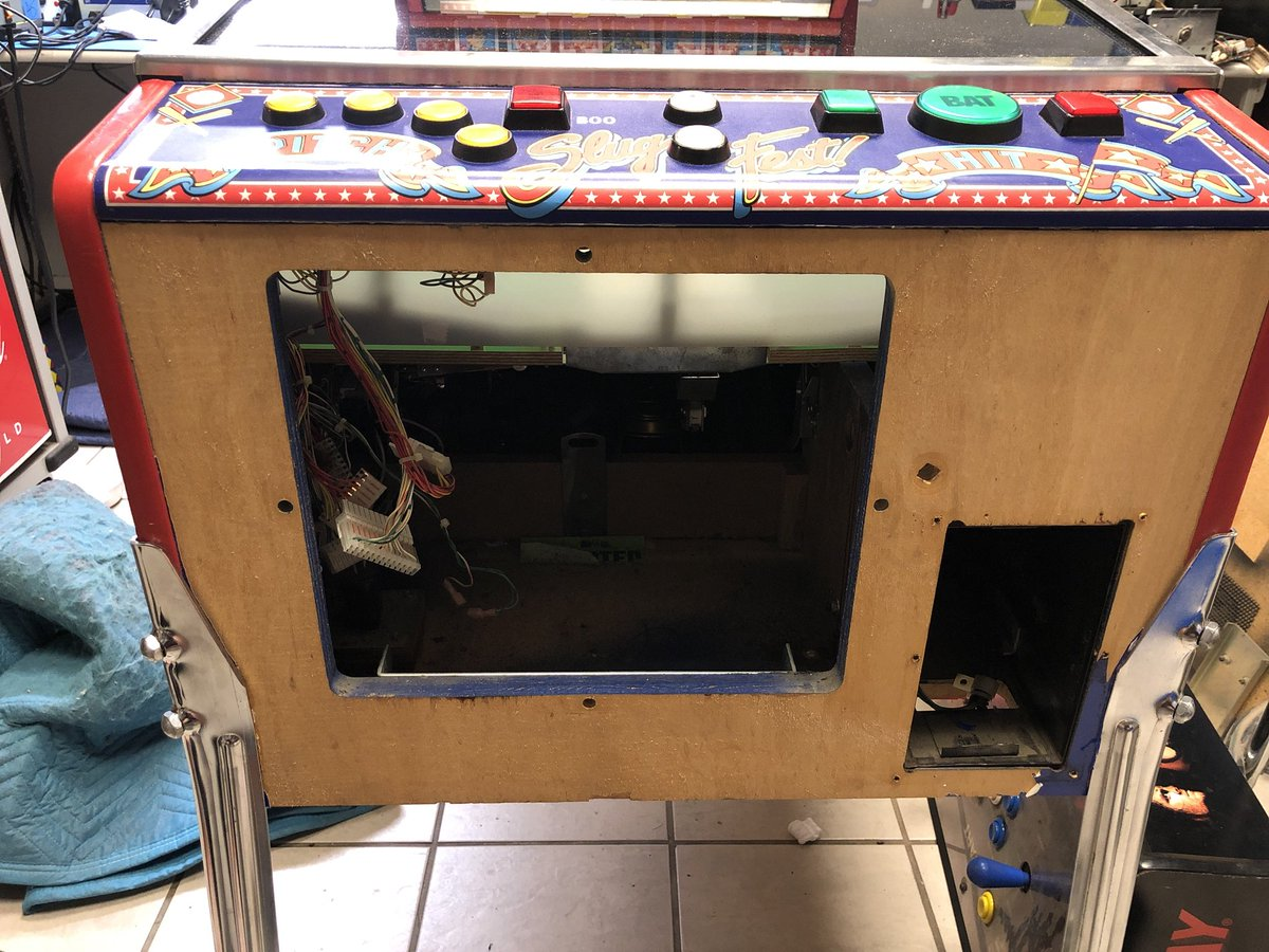 Refinishing The Coin Door And Reembling What A Great Pitch Bat Arcade Pinball Williams Retrogaminf Baseballpic Twitter Jk12yk9se8