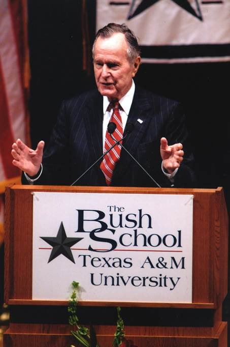 On Sept. 1, 1997, @BushSchool opened on campus of @TAMU in College Station, TX, followed 2 months later by adjoining @Bush41Library. Outside of his family, #Bush41 considered @BushSchool, which educates & prepares principled leaders for public service, his most important legacy.