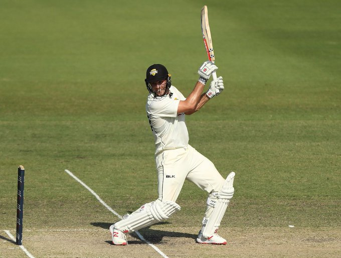 Mitchell Marsh was sent back to domestic cricket to make runs: finishes with scores of 21 and 11 against Victoria #SheffieldShield Photo