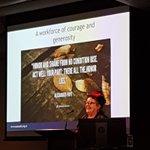 Image for the Tweet beginning: Caro Swanson championing the peer