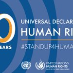 Image for the Tweet beginning: Today is #HumanRightsDay:  - This is