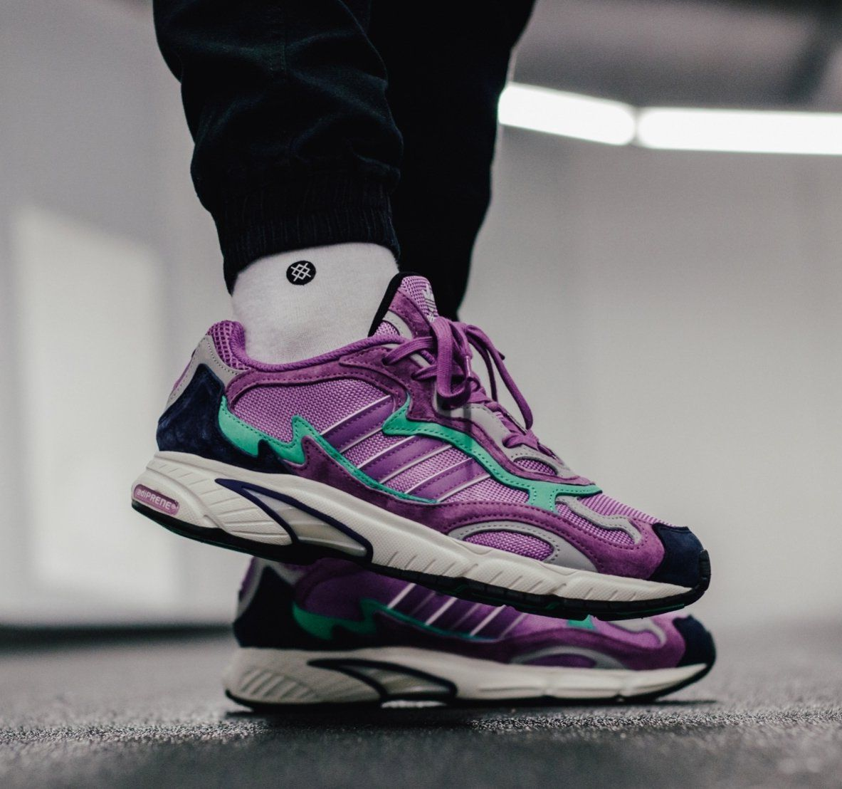adidas Temper Run OG &quot;Shock Purple&quot; is available for $98 (Retail $140) + FREE SHIPPING  Use code ADIFAM here:  https:// bit.ly/2O9W3K4  &nbsp;  <br>http://pic.twitter.com/CjXYrkzqr3