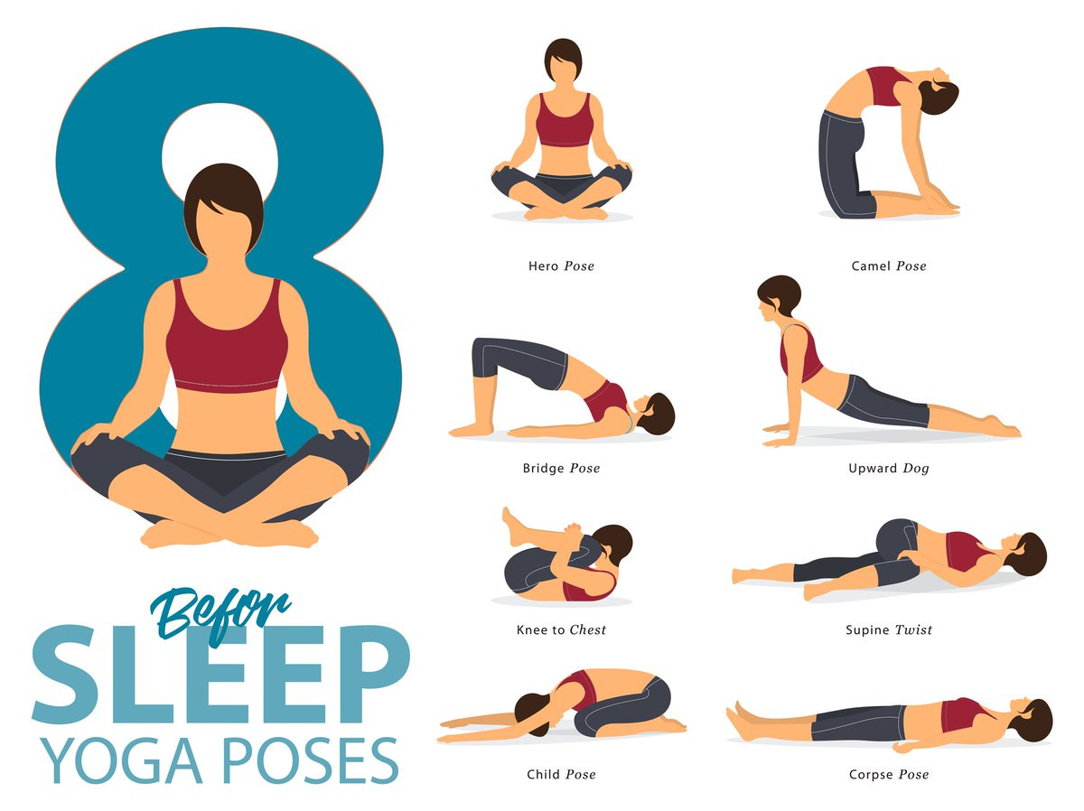 """UAMS Health on Twitter: """"Try these #yoga poses before bed for a"""