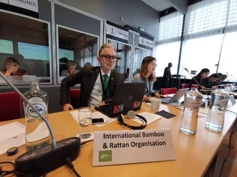 #DYK? #INBAR is the International #Commodity body for #bamboo - and when DG @hansfriederich spoke at the Common Fund for Commodities last week, he underlined the importance of fair and regulated #trade for the development of the bamboo industry. #ThinkBamboo <br>http://pic.twitter.com/G0EjjQT4PY