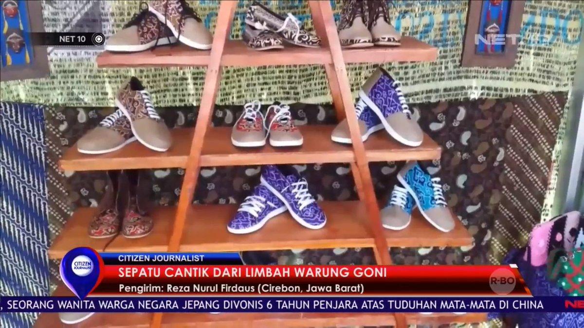 Intip cara pembuatan sepatu berbahan karung goni bekas dan kain batik cff1e75bcd