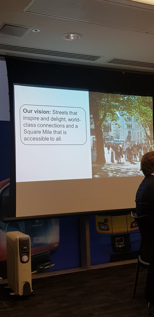 Attending @TfL forum this morning...'what a 21st century and beyond, city looks like' #CityStreets #TfL