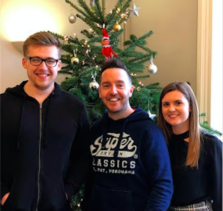 It's Week 2 of our #Elfontheshelf Christmas giveaway! A busy week ahead, the #PAelf joins Lee and Kian at @brancasterhouse (our accountants) to see the lovely Hannah. Like, RT & Follow us to be in with a chance to WIN a bottle of Norfolk Gin - draw this Friday! #giveaway