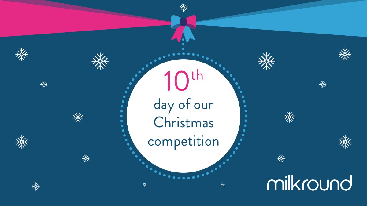 Day 10 of Milkround&#39;s Christmas competition is here! That means there is only 3 more chances left to become a lucky Milkround Christmas winner... For your chance to win, make sure your following us and then simply like this post. Good luck!  <br>http://pic.twitter.com/hx6VW0t6Lo