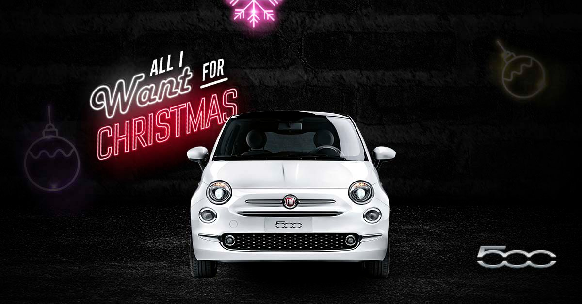 Buy any new Fiat in the next five days, for a chance to win your money back! #Christmas #AllIWantForChristmas #Fiat #MerryChristmasEveryone https://t.co/CRrri0M5hc