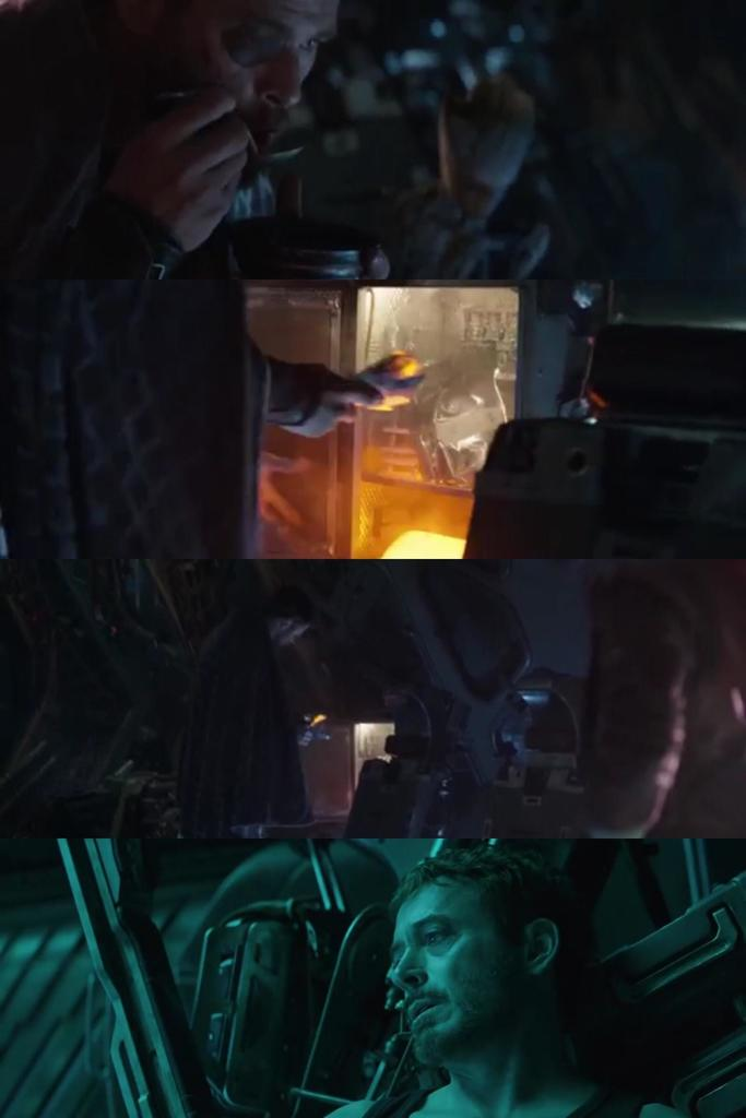 In Infinity War Thor had soup but still took about three big packet meals from their ship when he didn't need it. Later in the Avengers 4 trailer Tony Stark is stranded in space on the guardians ship. He ran out of food 4 days ago. Thanks Thor. <br>http://pic.twitter.com/YCb5UzyTJh