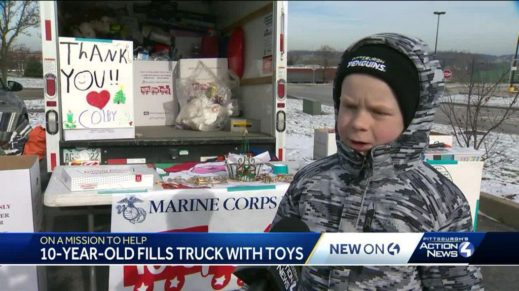 10-year-old boy collects over 1,000 toys for Toys for Tots https://t.co/MXsD97GIa3