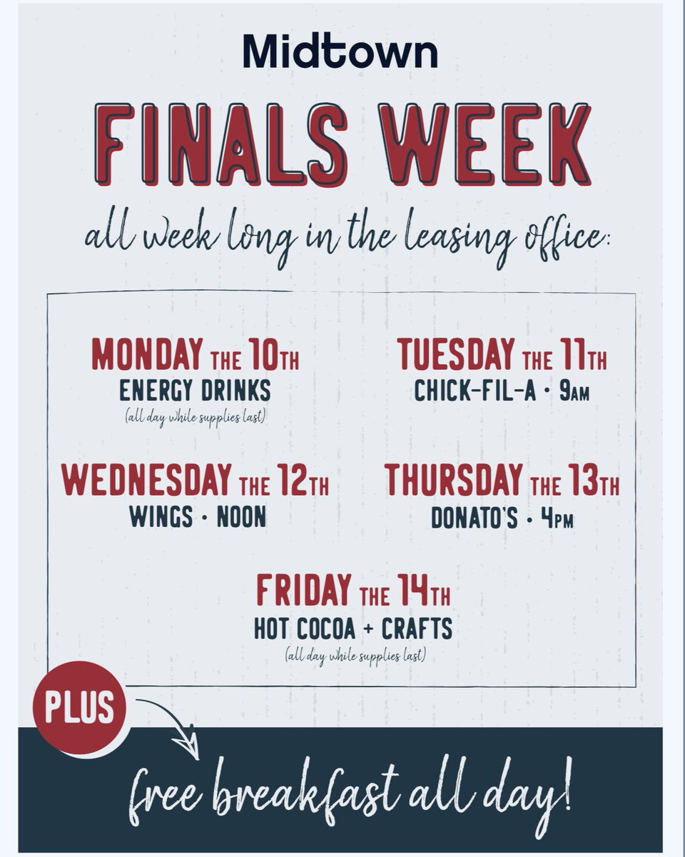 Finals Week? We've Got You Covered! #TagAFriend to Join You!  <br>http://pic.twitter.com/5JABIGMRHj