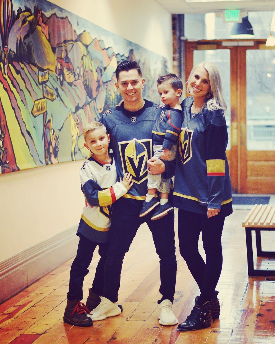 """My daughter and family celebrating in Utah the @VegasHockeyNHL big win tonight  you guys looking good """"Go Knights Go""""#Family"""