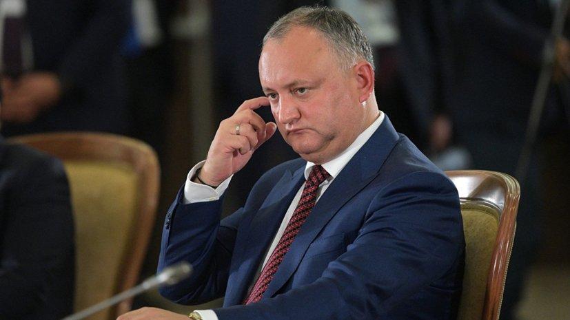 Додон вновь отстранён от исполнения обязанностей президента Молдавии https://t.co/YSNxyzrtsw