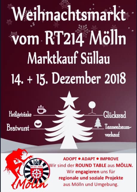 Weihnachtsmarkt Ratzeburg.Roundtable 214 Mölln On Twitter Kommt Am Freitag Und Am Samstag Zu