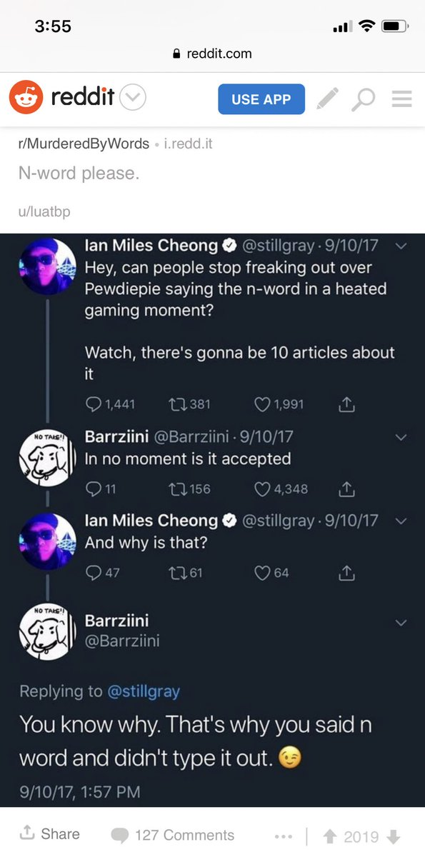 Ian Miles Cheong On Twitter He Has The N Word Pass