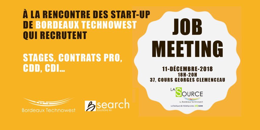 🎙#JobMeeting organisé par @Bdx_Technowest raconté par Jean-François Guilbon dans #OjectifEmploi sur @Bleu_Gironde📻   🔝70 offres d'emplois, contrats d'alternance, stages proposés par les #startup de la technopole #Bordeaux   🔈https://t.co/J8vWljU92q