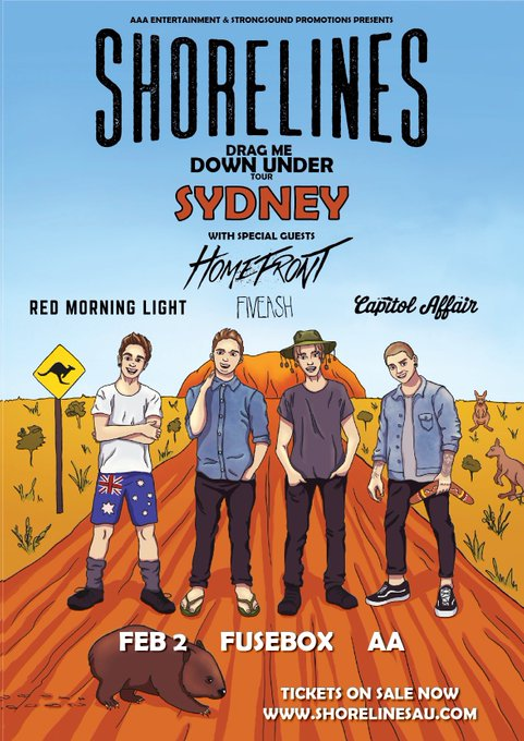 SYDNEY!! Check out this epic lineup! We've got 4 of our favourite bands joining us on stage, make sure you grab your tickets, they're selling fast!! Photo