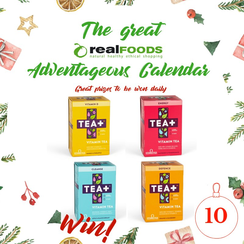 Day 10 on the Great Real Foods Adventageous Calendar The prize behind the door: a mixed set of four yummy teas from @TEAplusuk  To #enter RT &amp; follow us. Closes midnight tonight, Sun. Random winner on Mon, UKonly #RealAdventageous #Competition #Giveaway #WinIt #Win<br>http://pic.twitter.com/jyQbQFg2DL