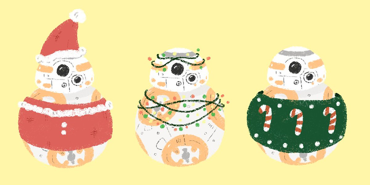 old bb8 christmas art <br>http://pic.twitter.com/qa68L74qLR