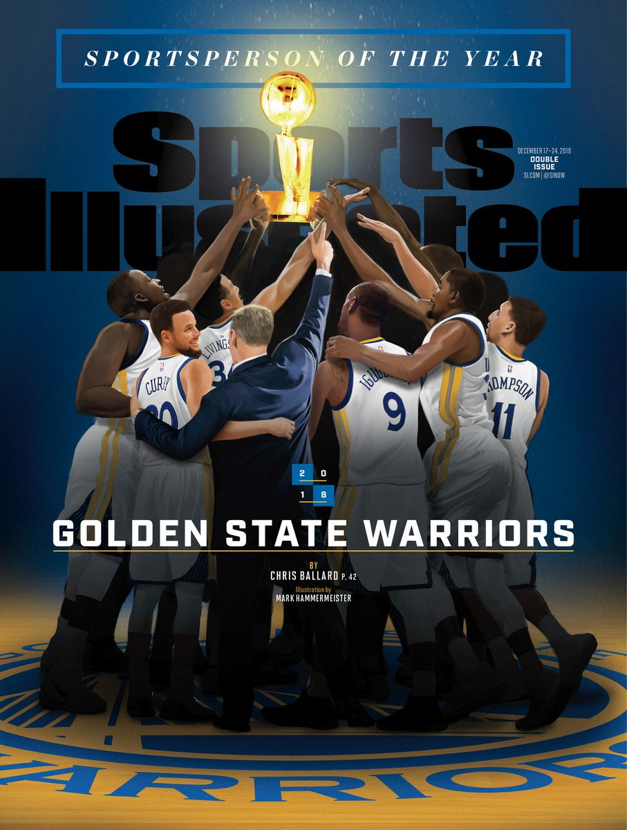 Three titles in four years, and now another: 2018 @SInow #Sportsperson of the Year recipients. Congratulations, @warriors! go.si.com/7k06jtU