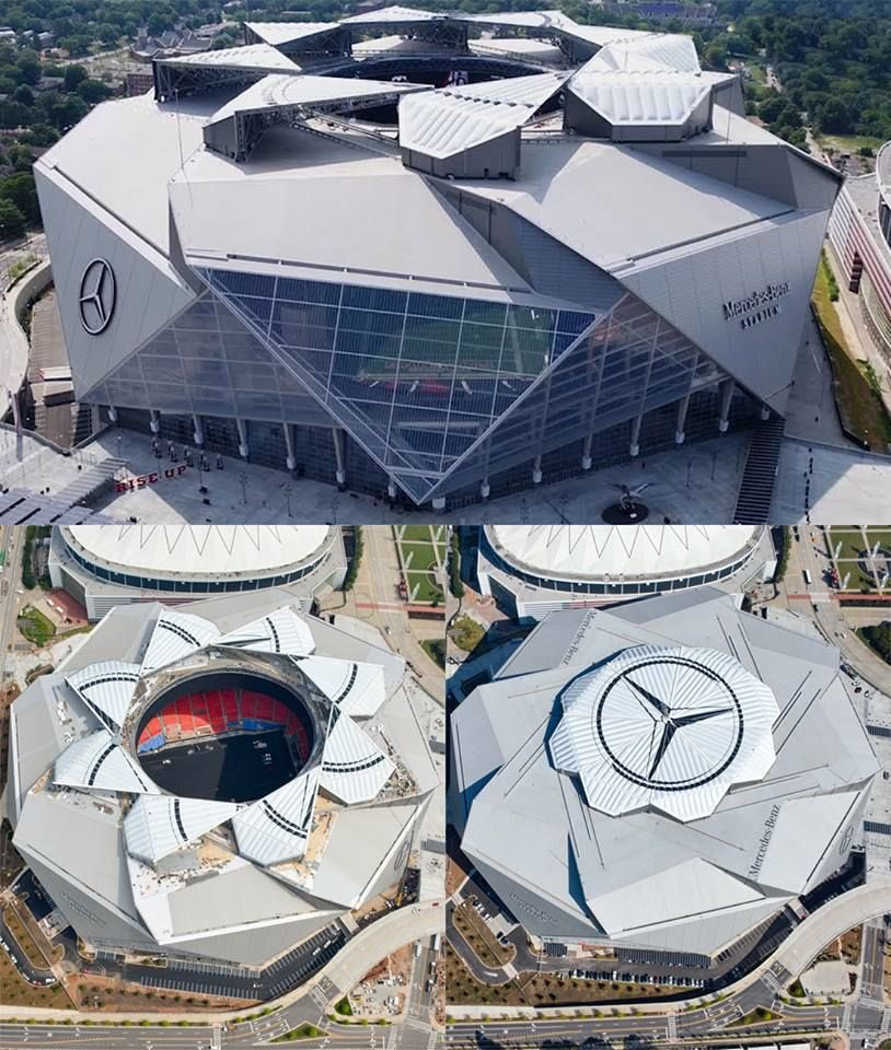 The Mercedes-Benz Stadium, home of Atlanta United. 😍🇺🇸
