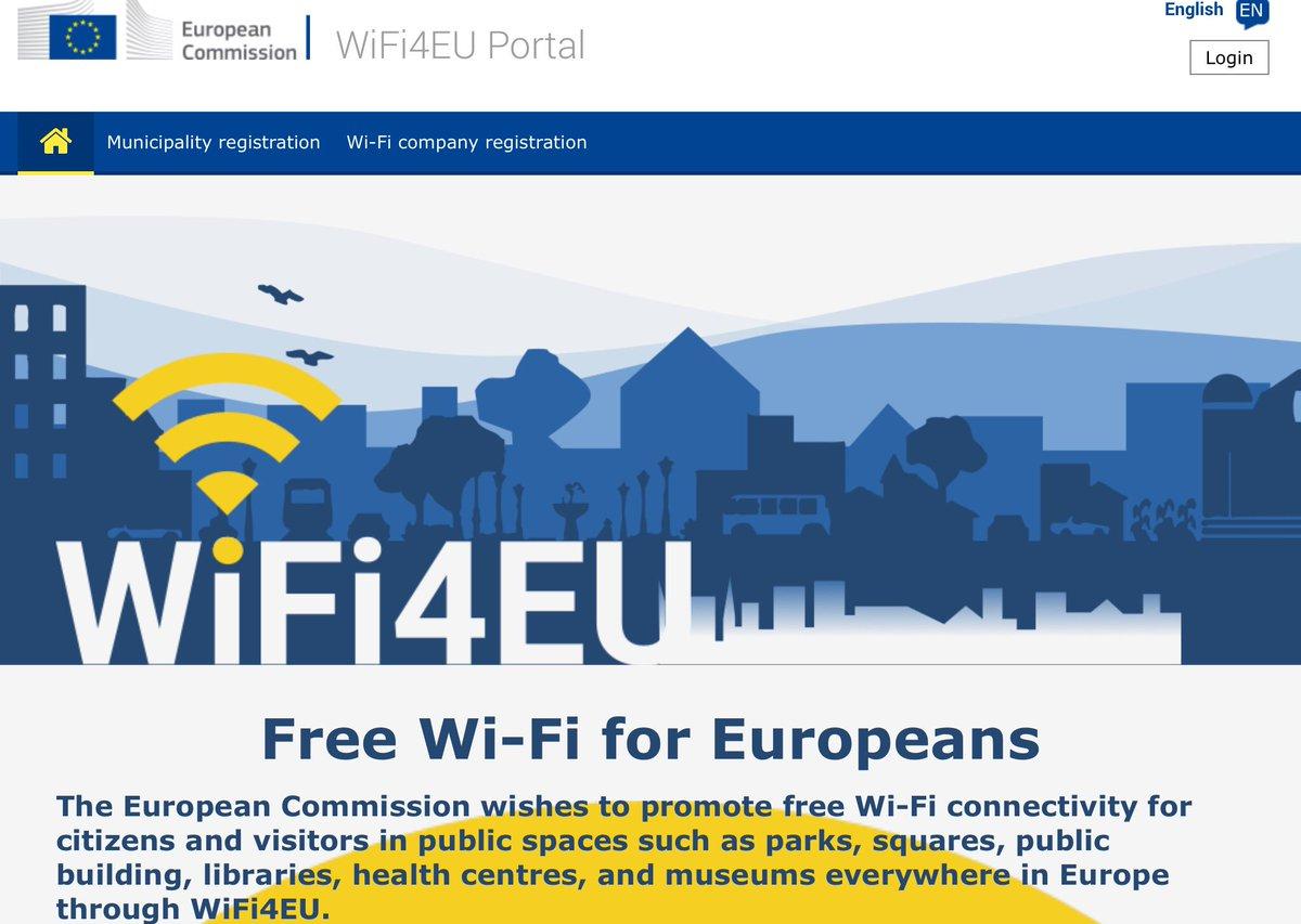 Ensimmäinen #WiFi4EU-kierros on nyt käyty. Suomessa 15 000 e rahoituksen saa 15 kuntaa. Jos tällä kertaa ei tärpännyt, käynnistyy seuraava haku jo ensi vuoden alussa #laajakaistainfo