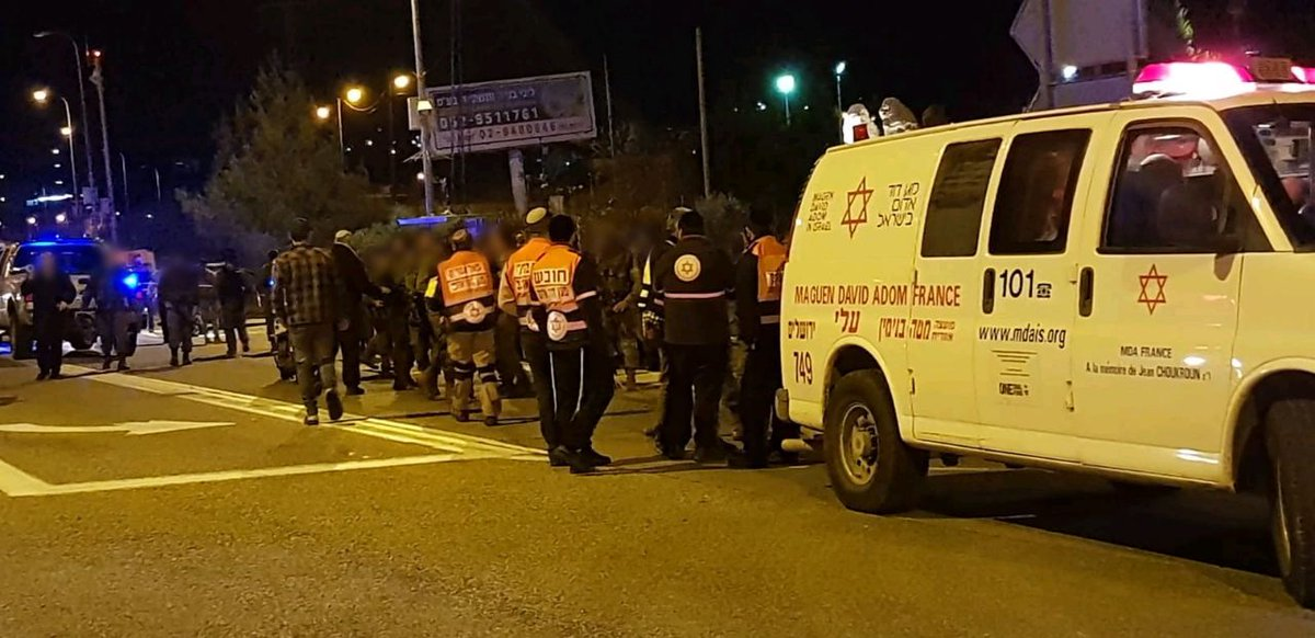 A pregnant woman was critically wounded in last night's shooting attack in Ofra, north of Jerusalem. Doctors were forced to enduce labor & deliver her baby. 6 others were also injured. IDF & security forces are searching for the terrorists & will ensure the security of Israelis.