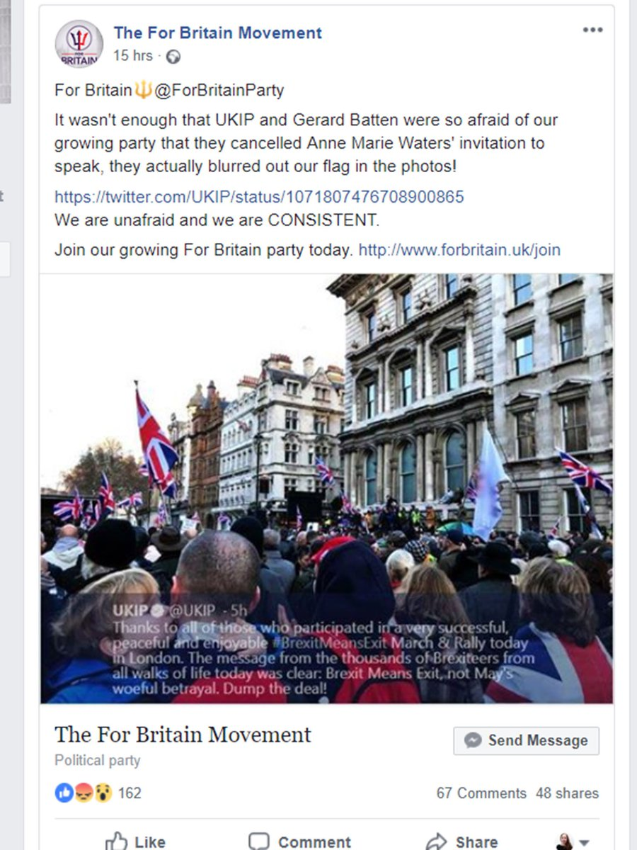 And the infighting begins! For Britain are peeved that more than a year after Ukip rejected its leader Anne Marie Waters, Gerard Batten has taken up her anti-Islam platform  He has also taken Tommy Robinson, who tried to co-found 'Pegida UK' with Waters in 2016