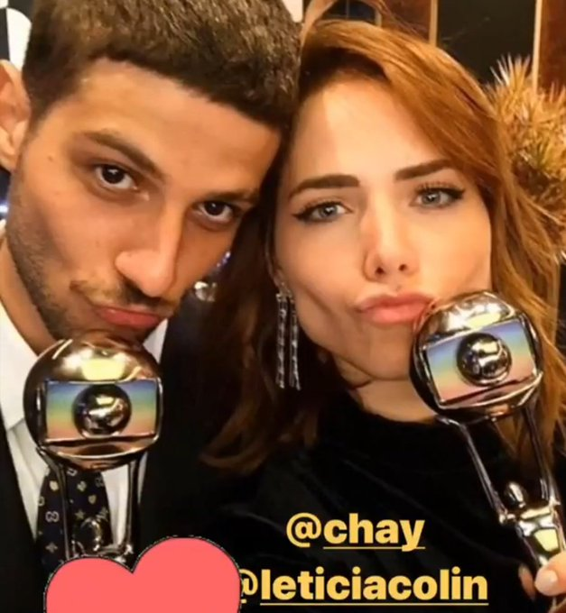 Letícia Colin e Chay ganharam o Melhores do Ano, meu Rosícaro vivissimo. Que saudade do meu casal Foto