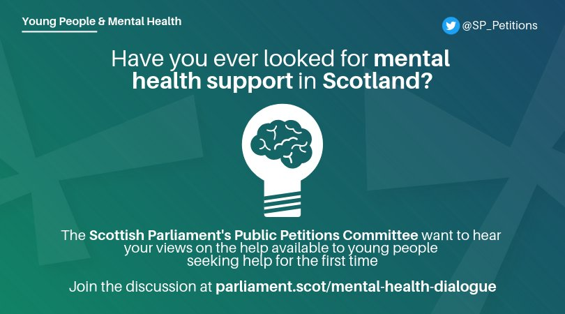 Have you ever looked for mental health support in Scotland? Share your views and experiences of accessing mental health support with @ScotParl to make your voice heard! 🗣🗣 Join in with the discussion here > scotparl.dialogue-app.com