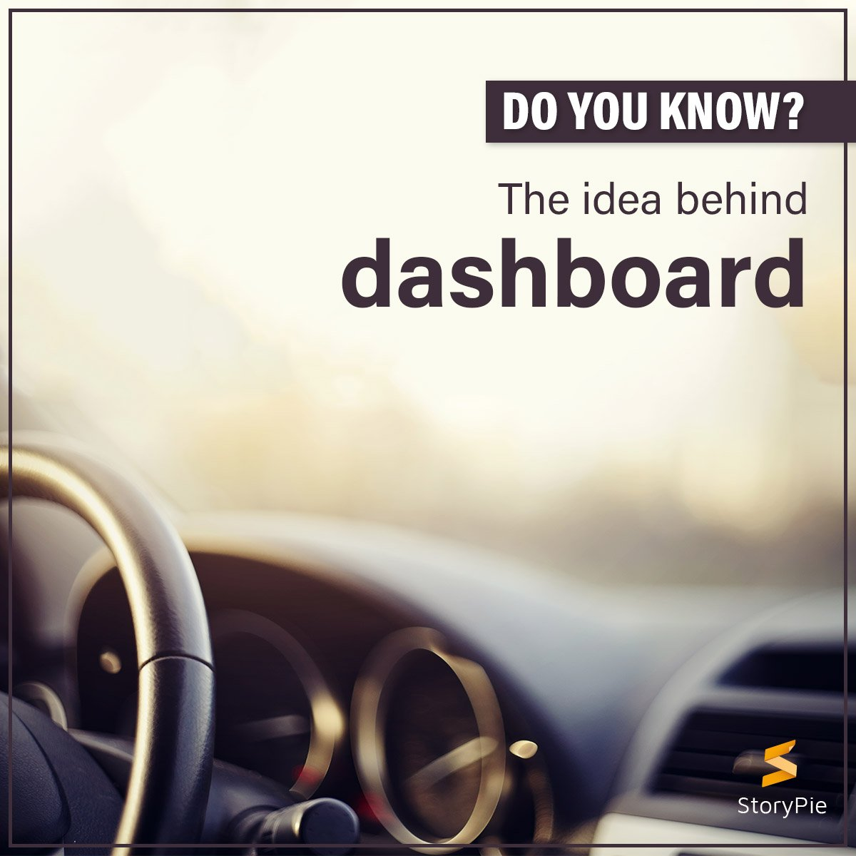 The idea behind dashboard in cars was originally inspired from horse-drawn carriages to prevent mud splattering on the driver. #DidYouKnow #WhatTheFact #StoryPie