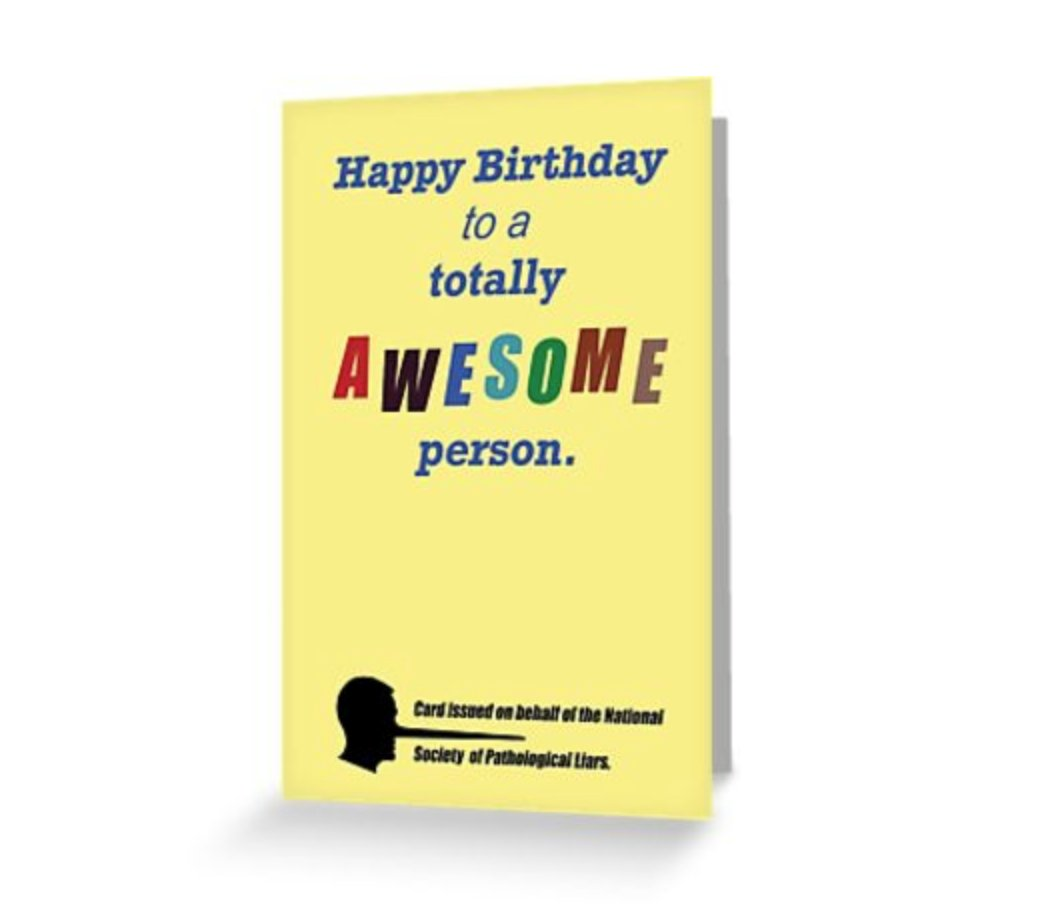 Small Print Birthday Redbubble People Rudeplanet Works 35605765 Awesome Person Card Liarascupgreeting Cardrelcarousel