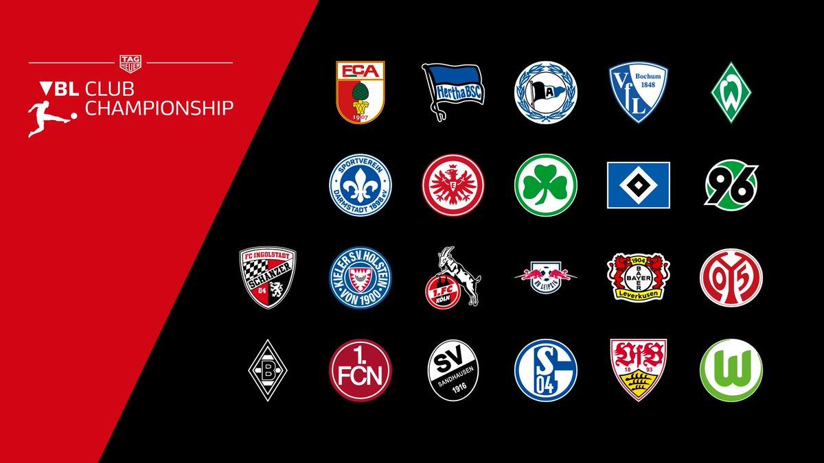 22 Vereine aus der 1. & 2. @Bundesliga_DE starten in der #VBL Club Championship, die einen Teil der @TAGHeuer Virtual Bundesliga bildet.  Details 👉 http://bit.ly/2zPWIrU