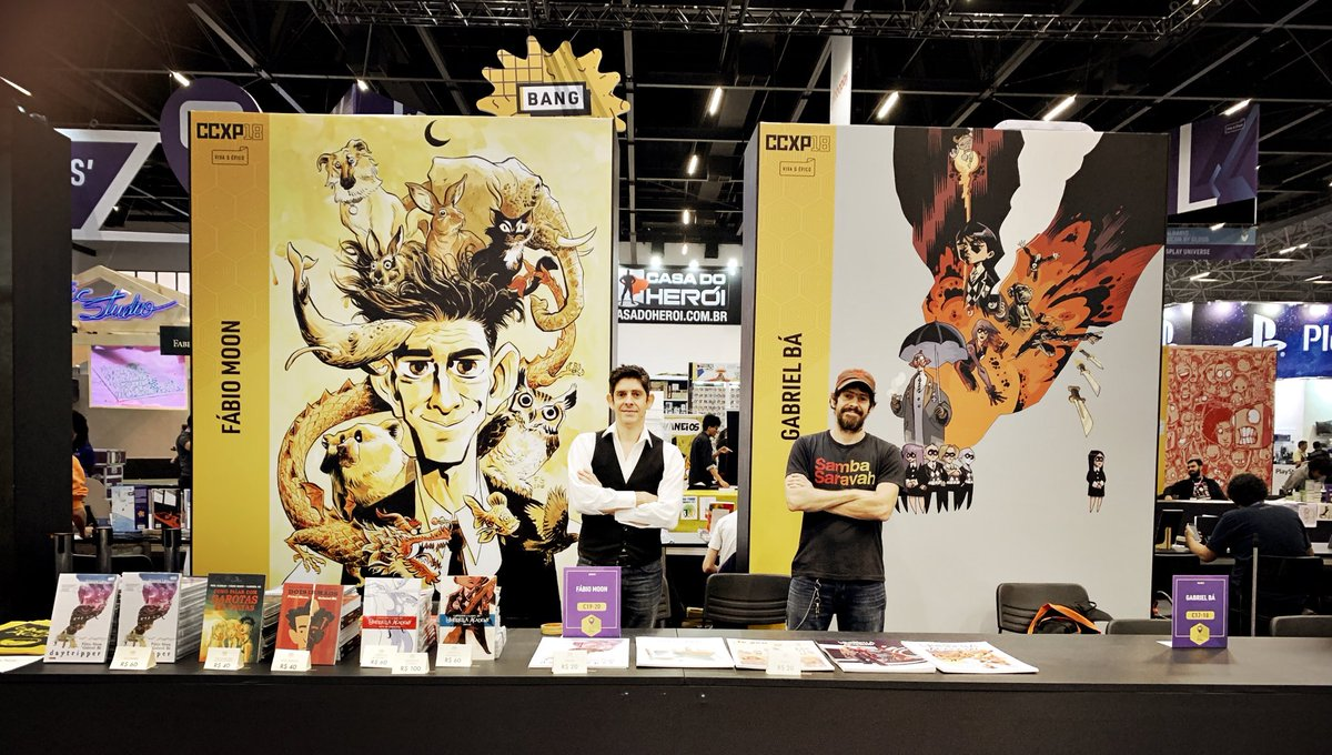 Gabriel Bá's photo on #CCXP18