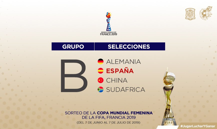 🚨 OFFICIAL | Find out who our @SeFutbolFem squad will face in the 🏆 World Cup Group Stage!   All the details, here! 👇  🔗http://bit.ly/WWorldCupDraw