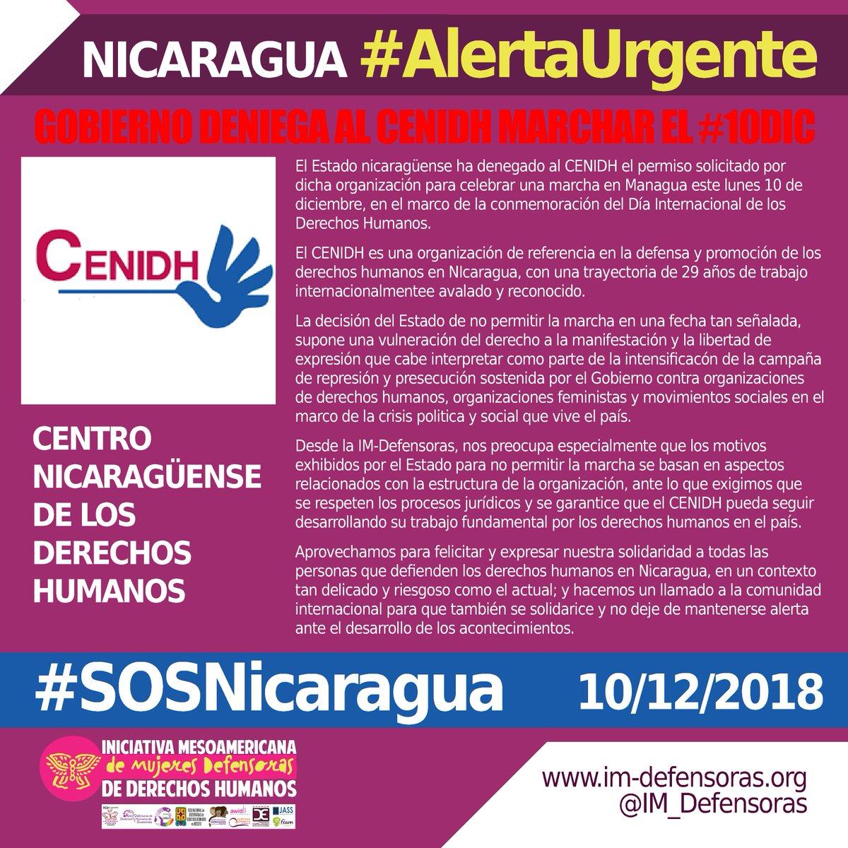 Im Defensoras On Twitter Alertaurgente Nicaragua