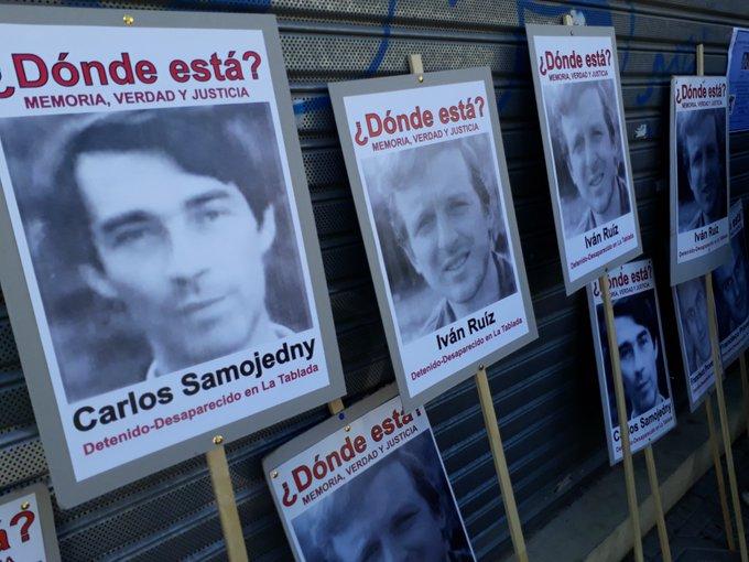 #35AñosDeDemocracia Comienza el juicio por los desaparecidos de La Tablada en el TOF 4 de San Martín: Iván Ruiz, Carlos Samojedny, José Díaz y Francisco Provenzano Foto